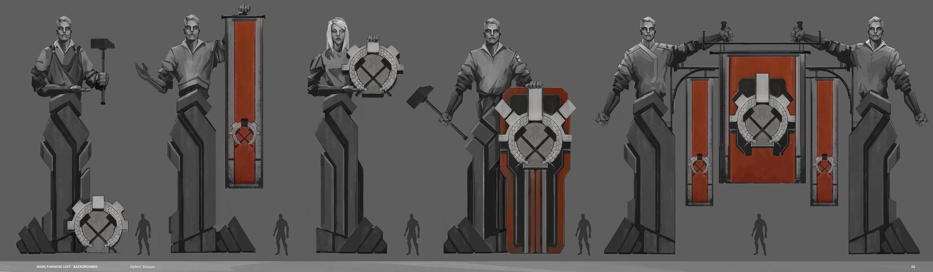 Alexandre chaudret mpl backgrounds statues03