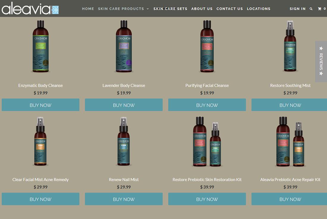 Jeff mcdowall aleavia bottles product page