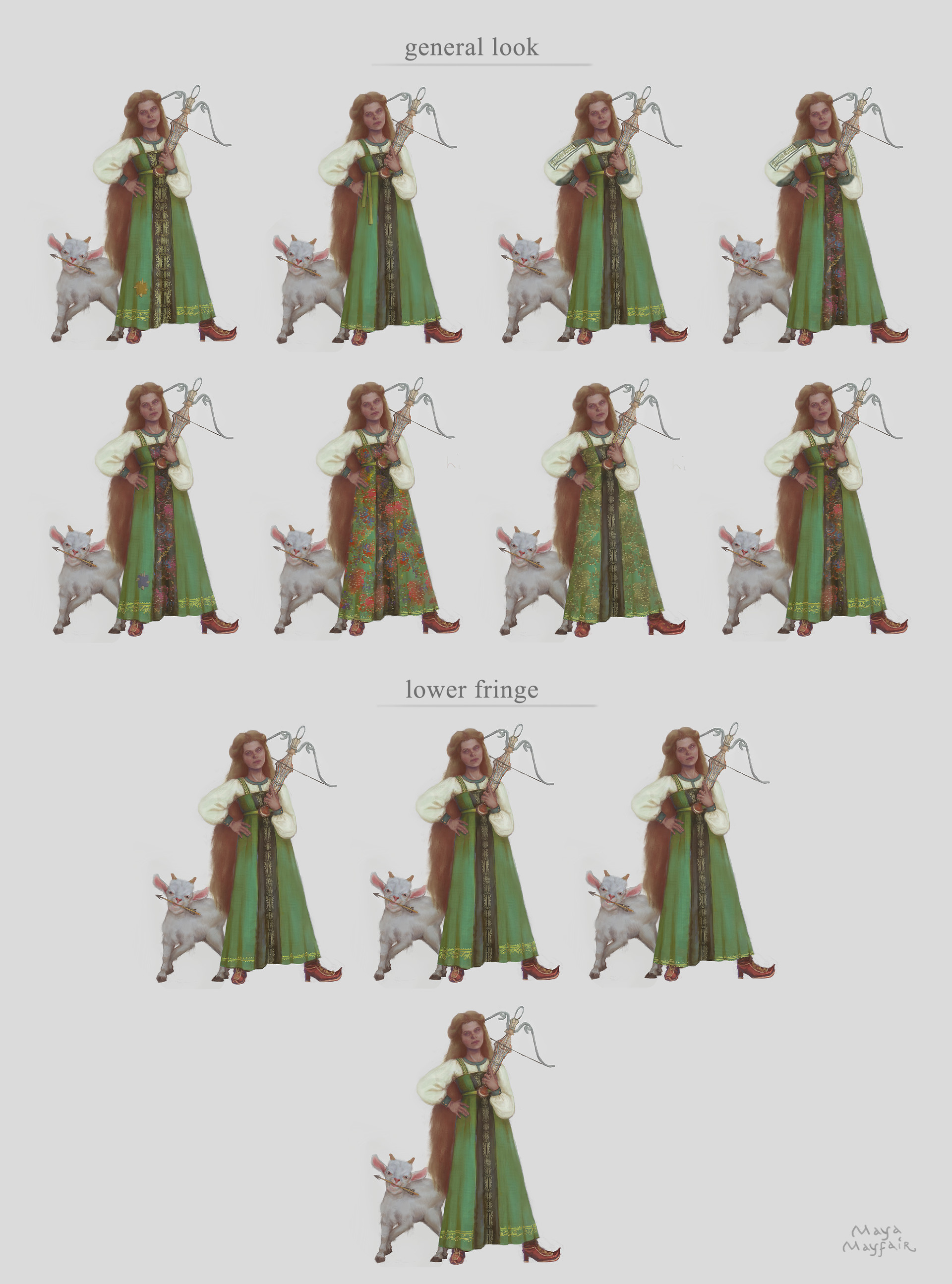 Maya grishanowitch costume variations