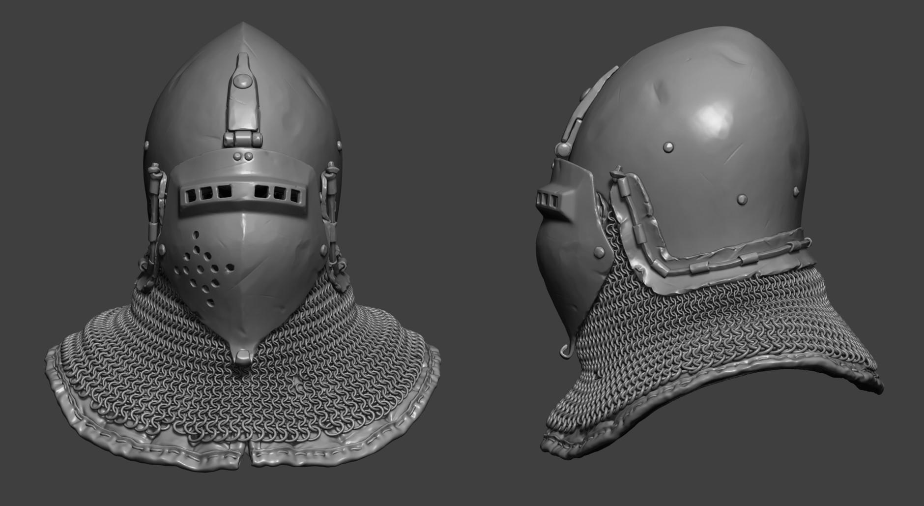 Petr sokolov artpity knight hp helmet close