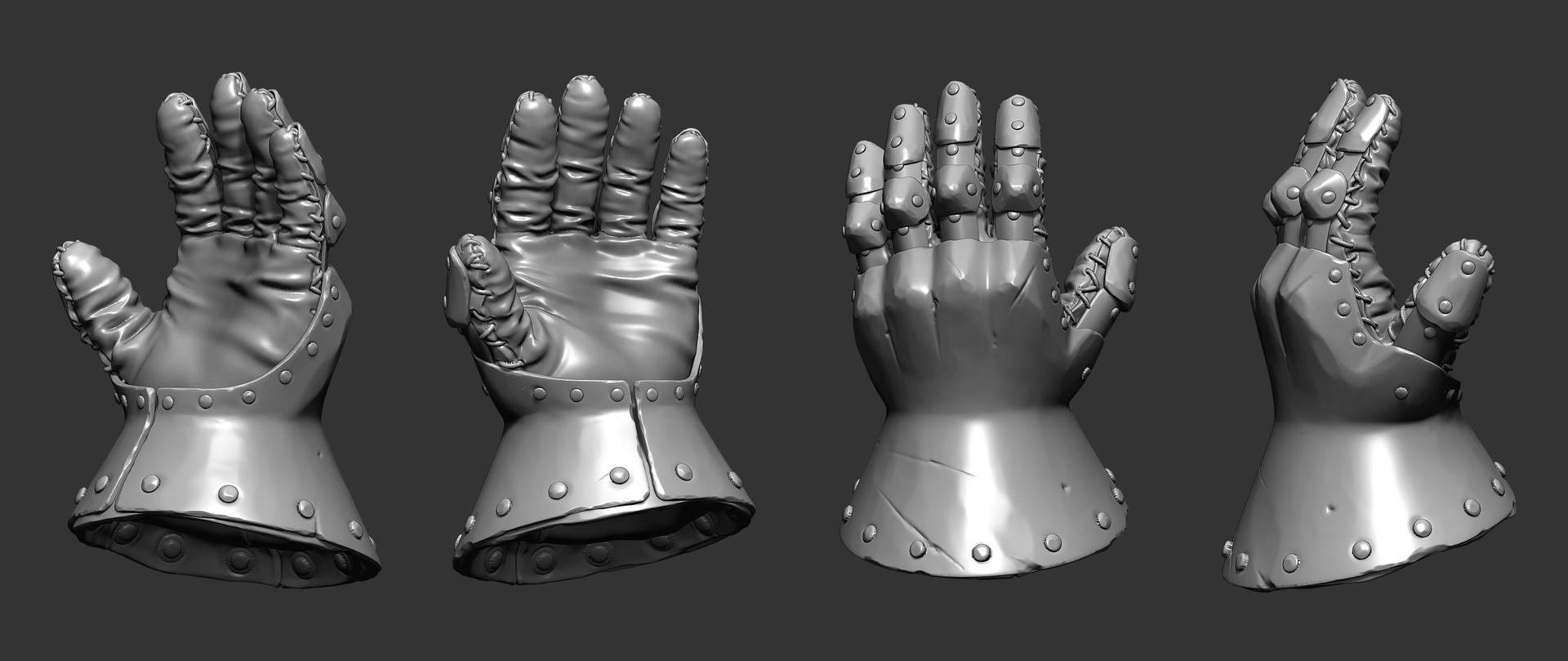 Petr sokolov artpity knight gloves side