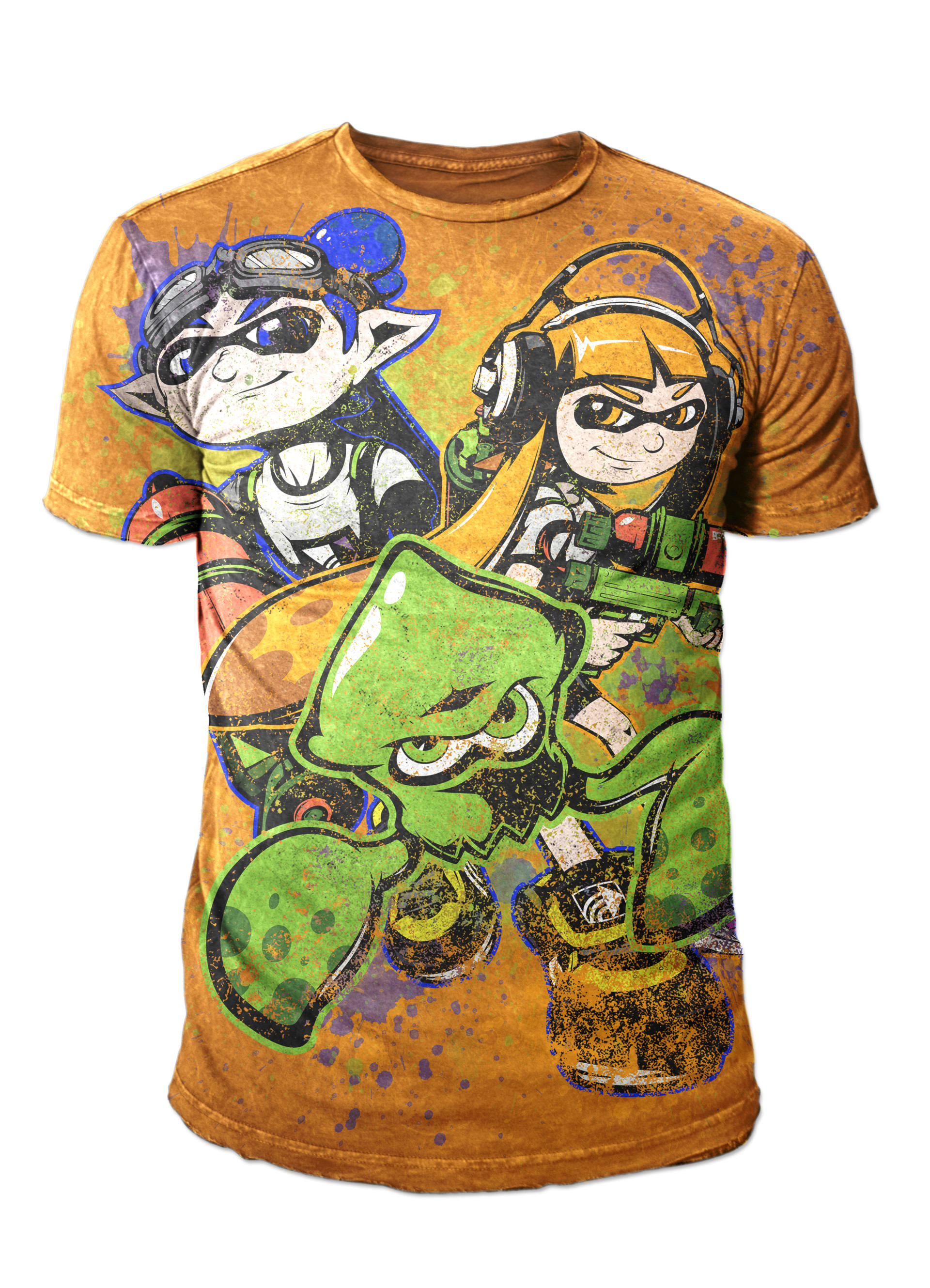 Nathaniel scramling splatoon shirt design