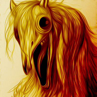 Nathaniel scramling horror horse