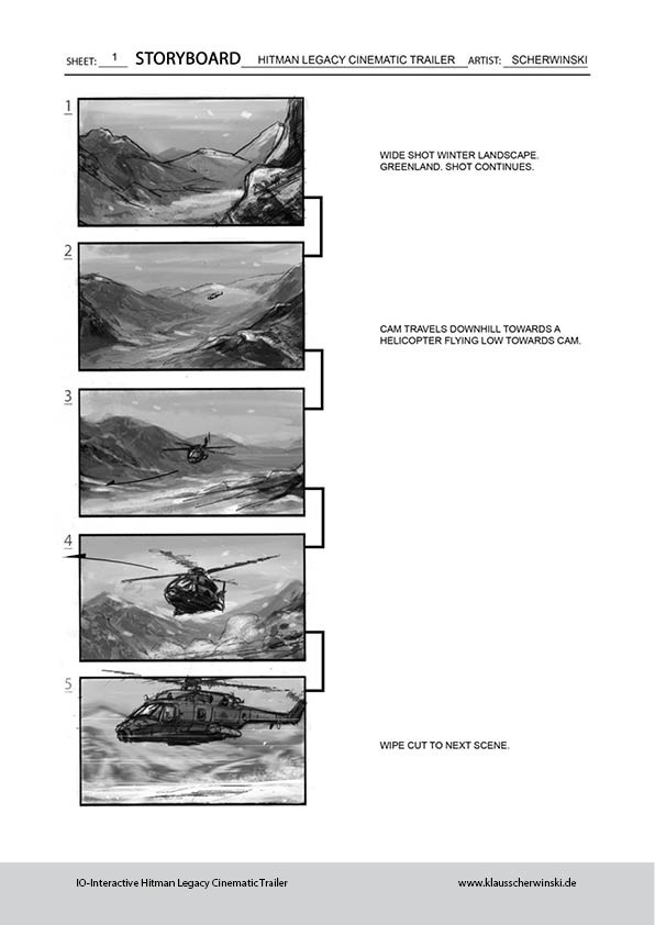 "Artstation - Hitman ""Legacy"" Cinematic Trailer Storyboards, Klaus"