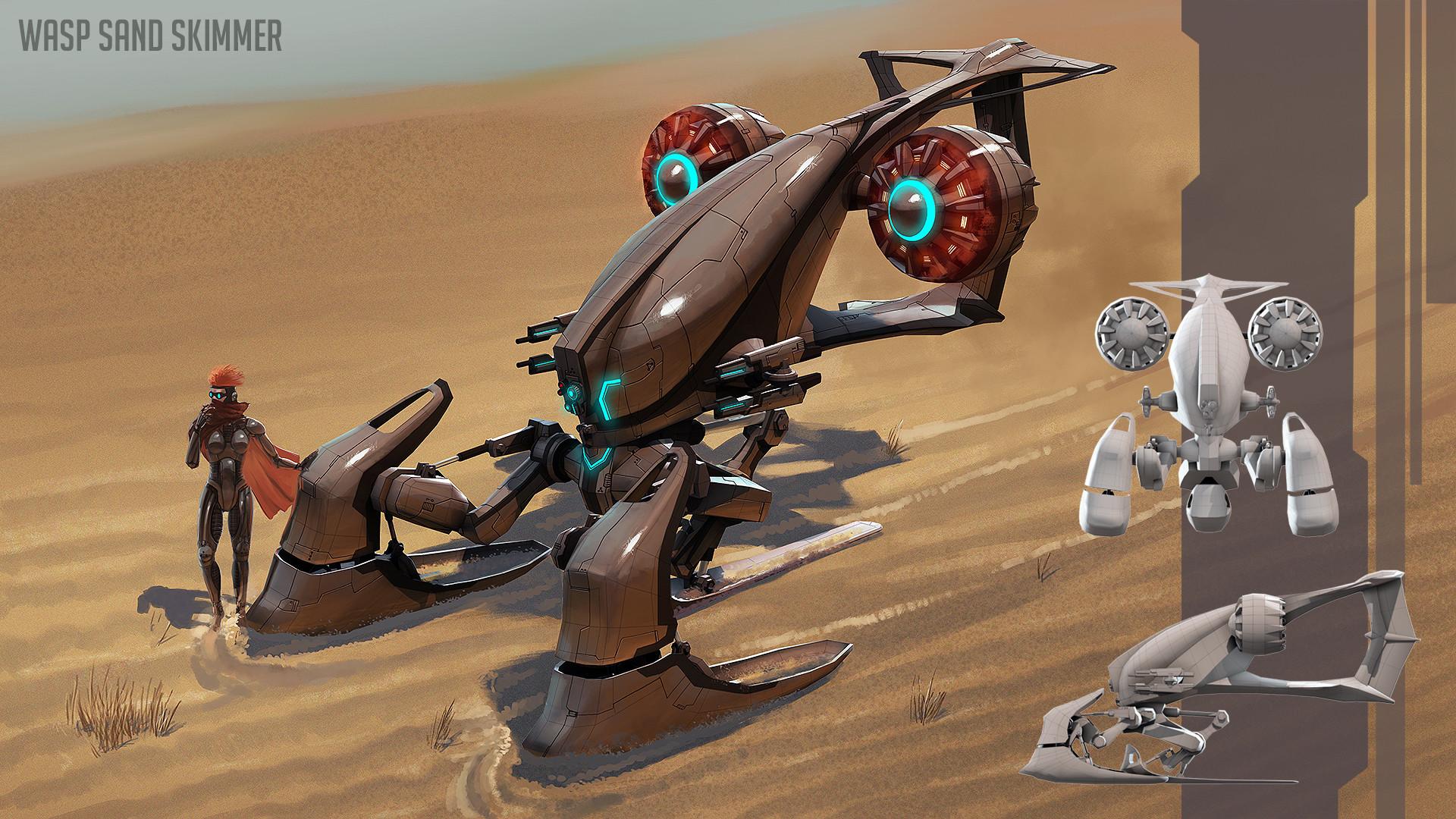 Kelvin liew wasp overpaint dark concept