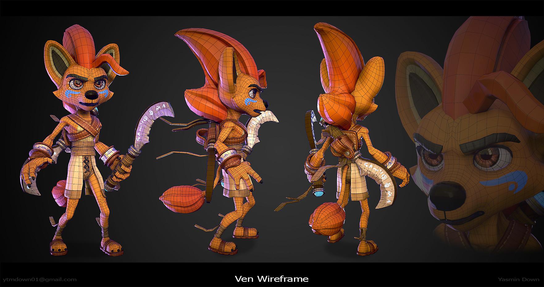 Yasmin down ven wireframes