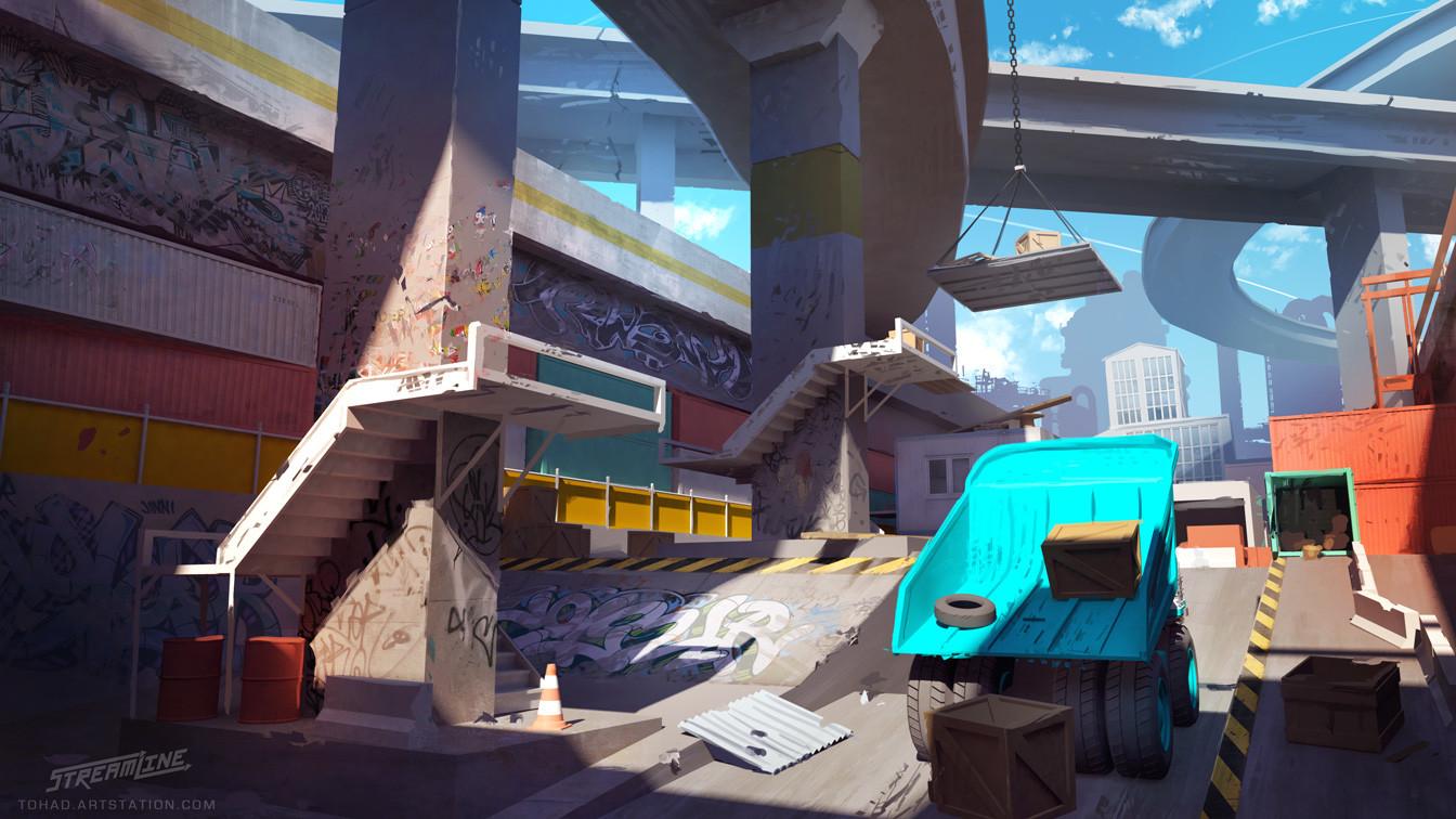 Streamline concept-art : under the overpass