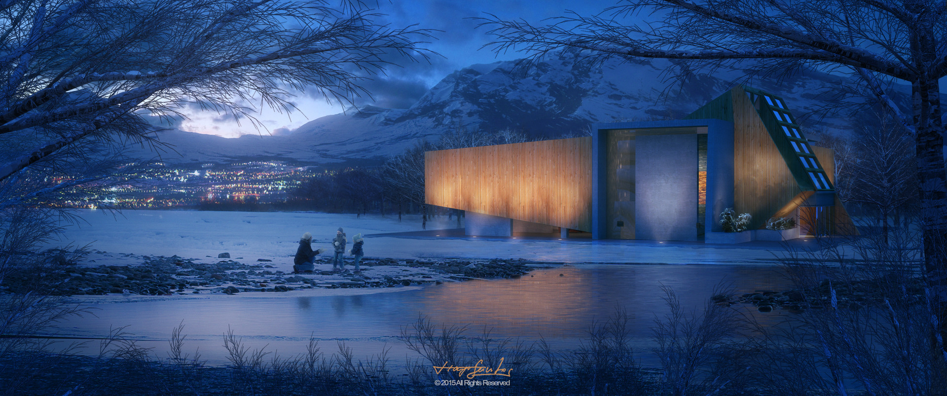Tiago santos blue dusk architecture