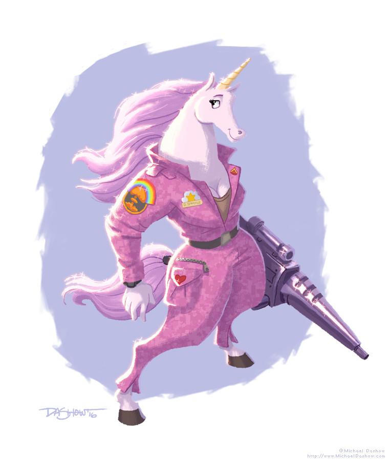 Michael dashow unicorn lance corporal daphne sparkle 760x900