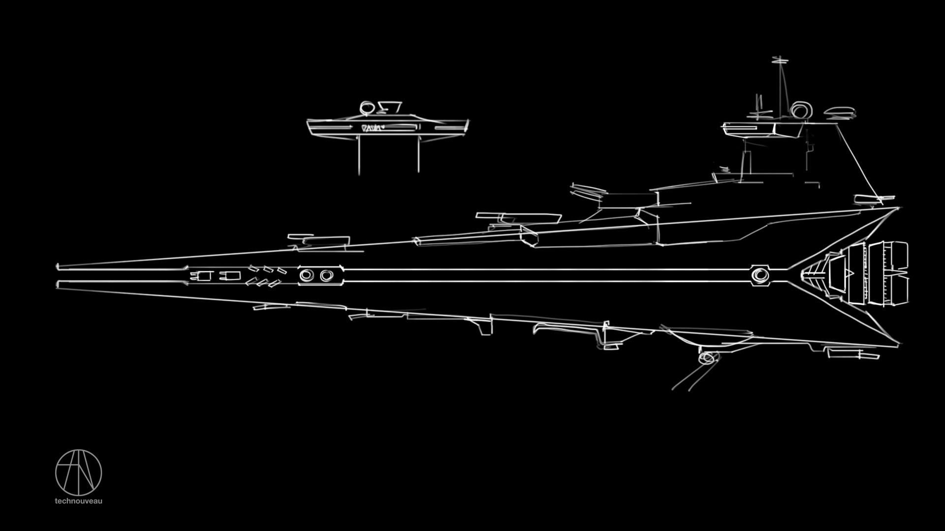 Rasmus poulsen star destroyer sketch 01