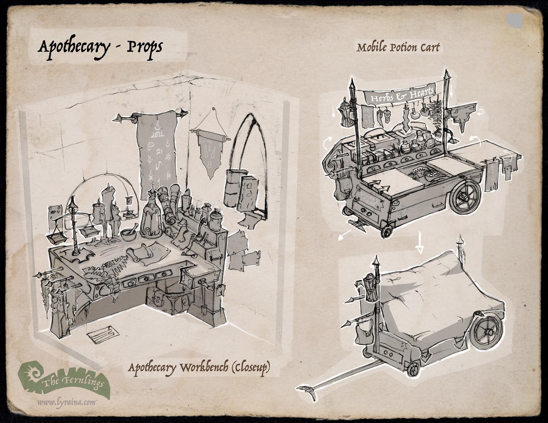 Johanna rupprecht lyraina fernlings apothecary props