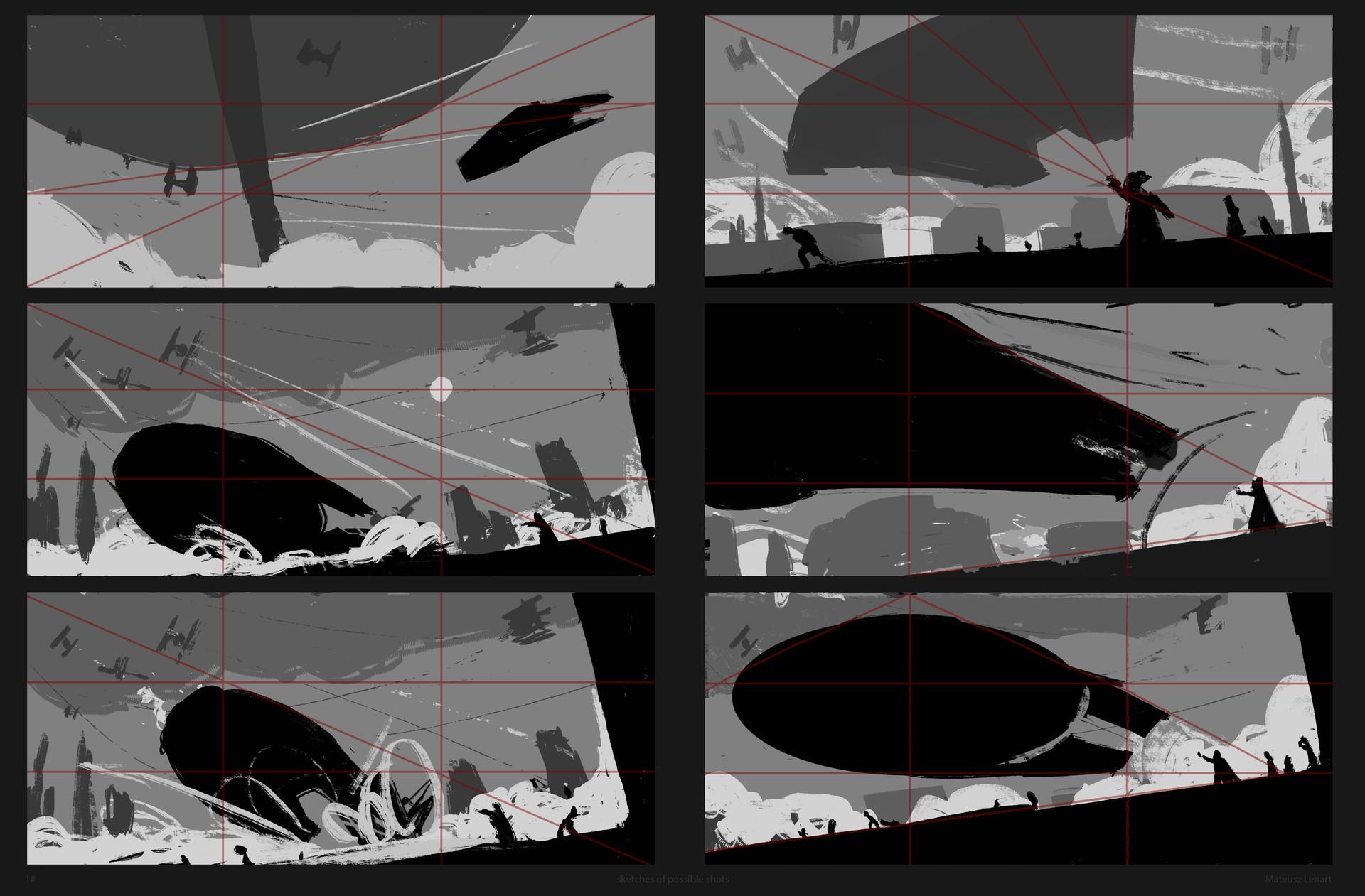 Mateusz lenart cloud city progress 1 sketches