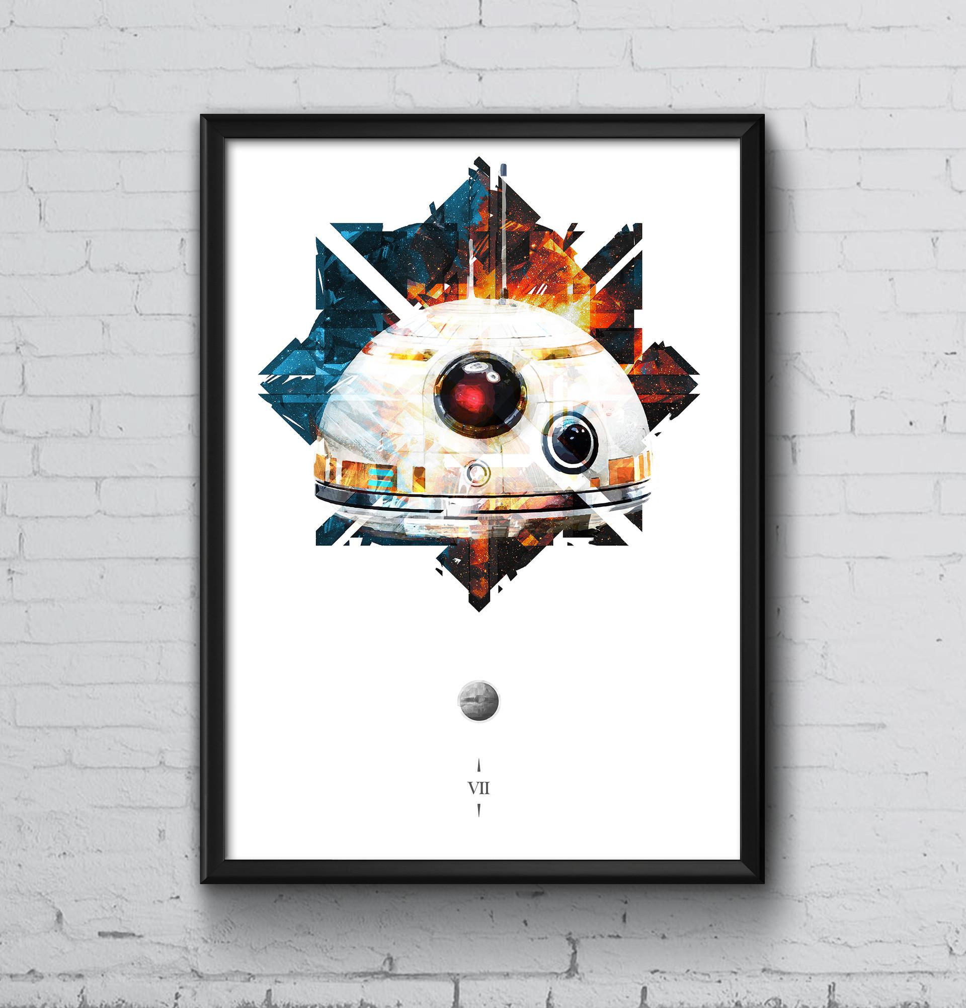Callum whitehead poster frame psd mockup starwars