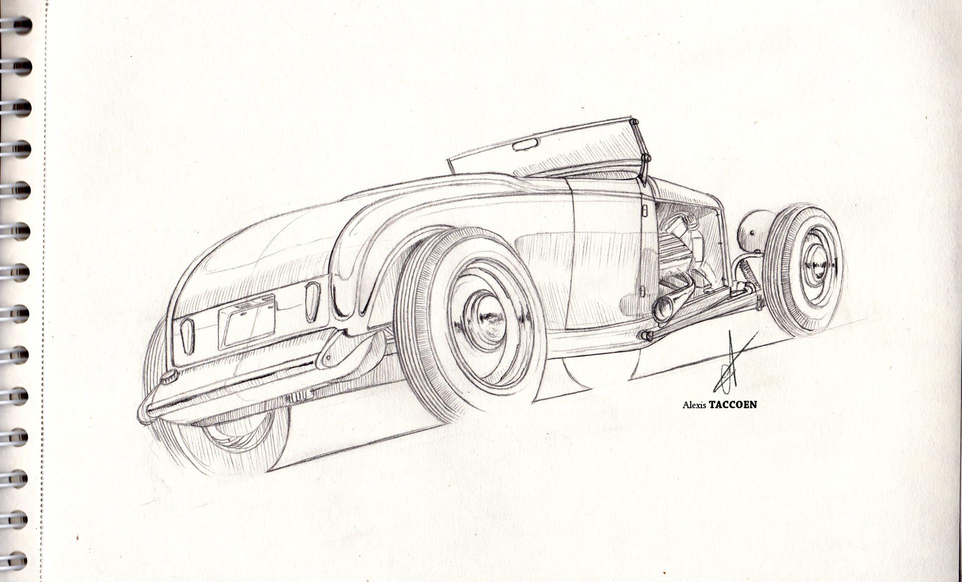 Alexis taccoen hot rod sketch