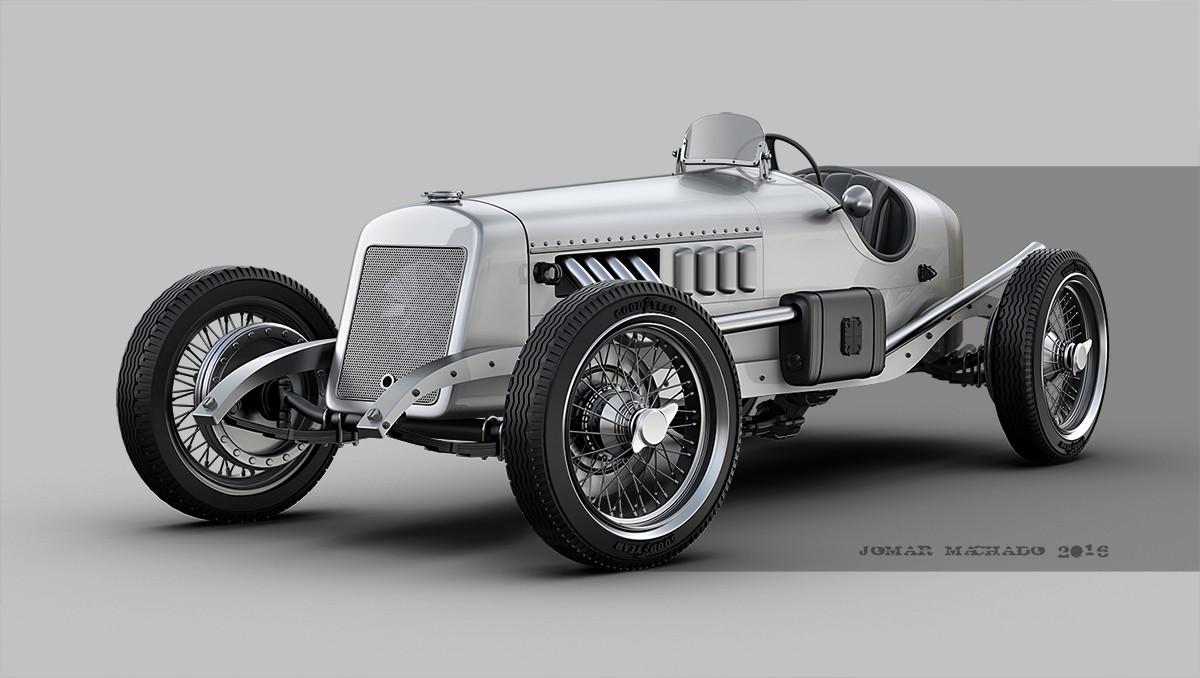 Jomar machado a vintage race car peq