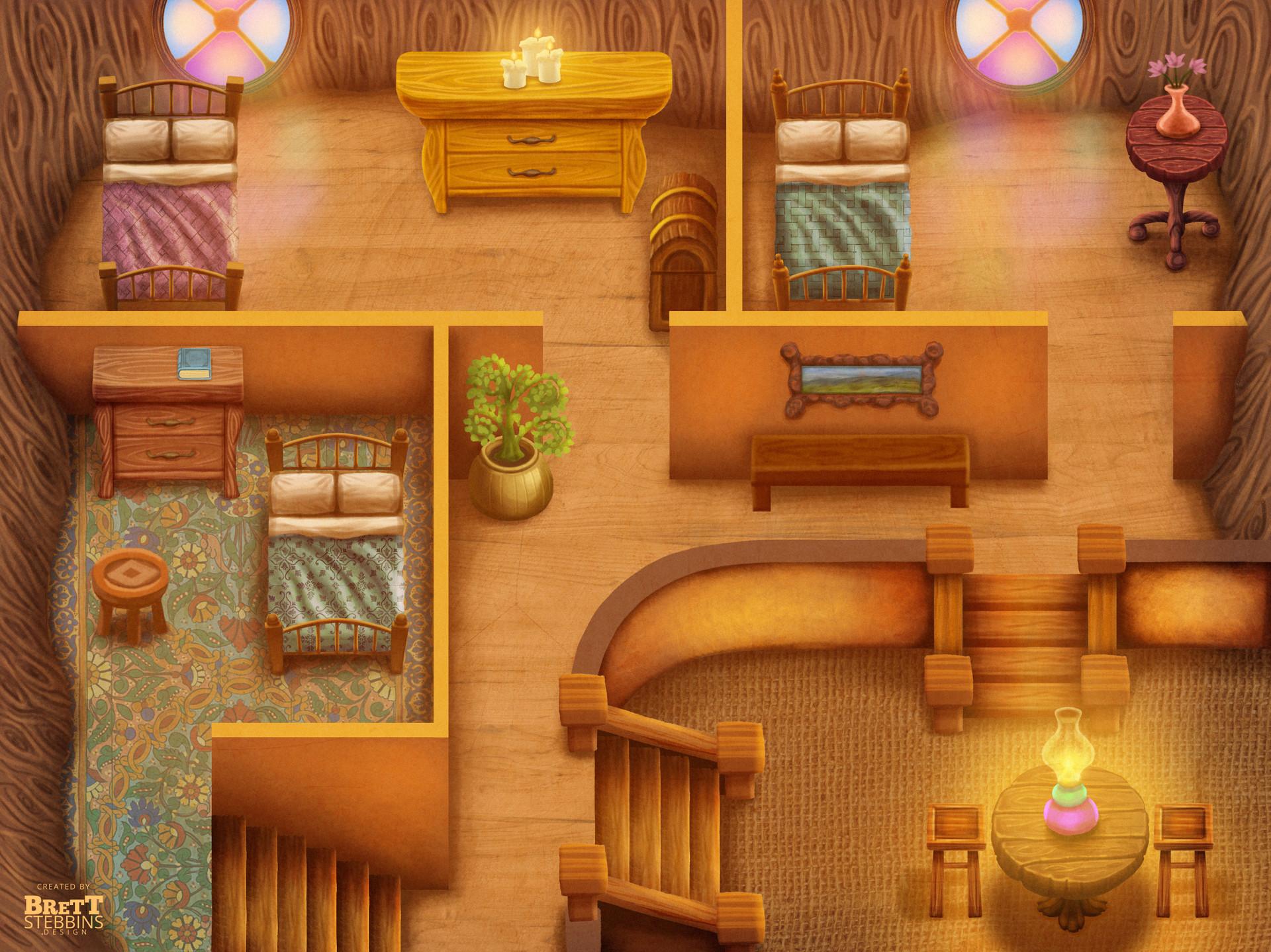 Luminare Saga - Sapling House Interior Concept Art
