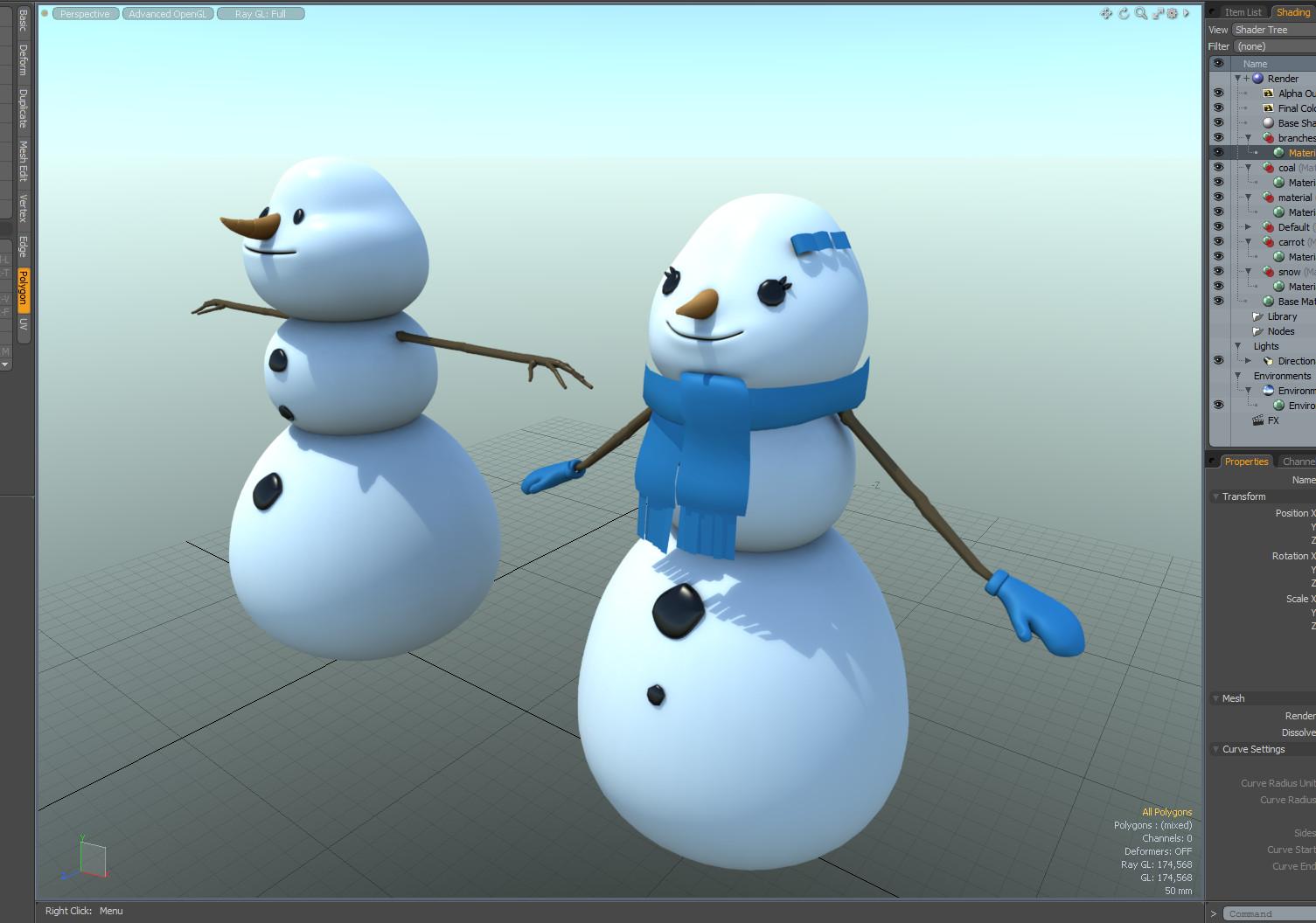 Martin krol snowman woman 01