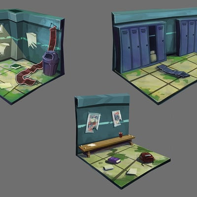 Rob smyth zombie corridor colour