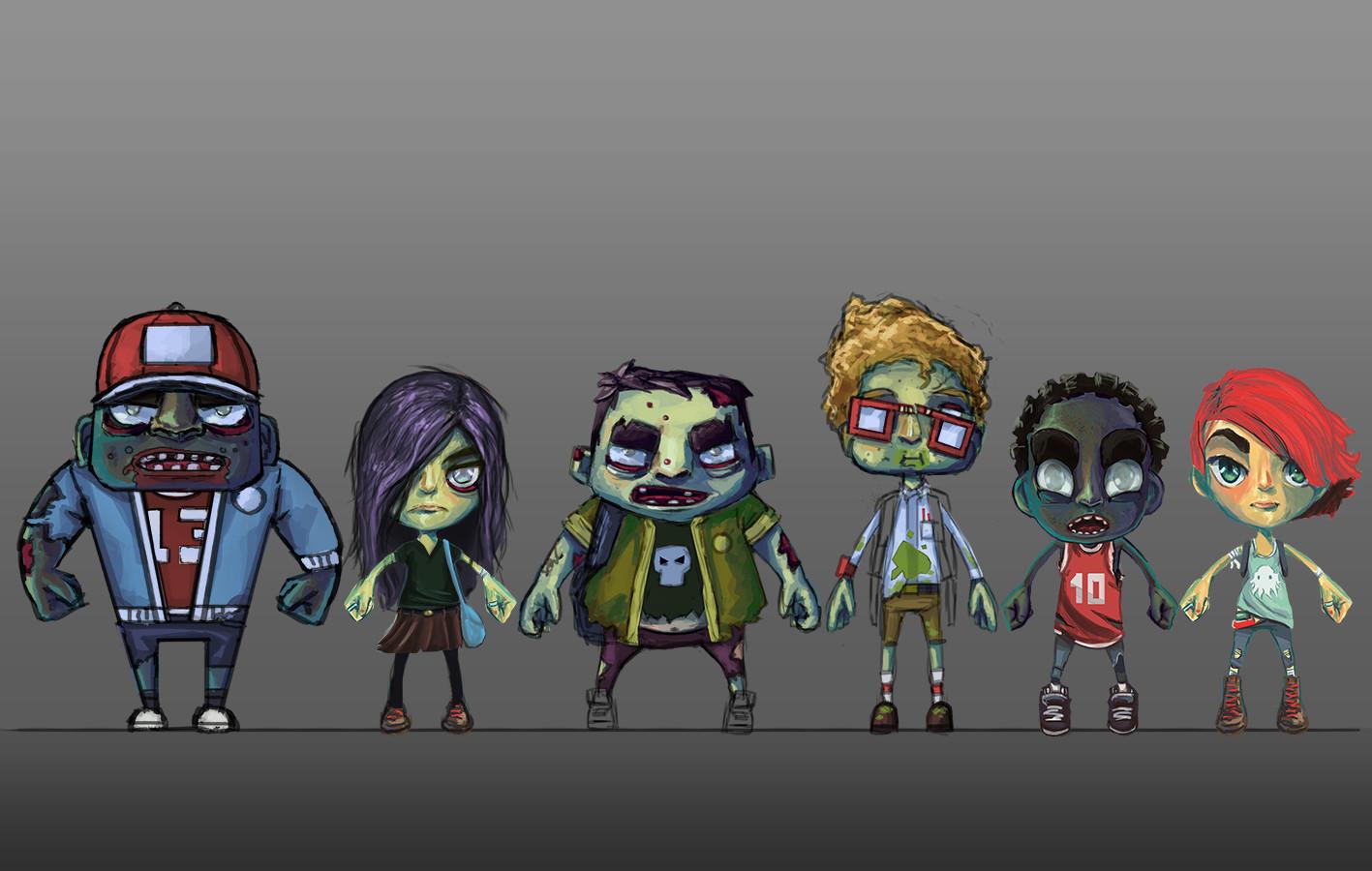 Rob smyth zombie concept line up