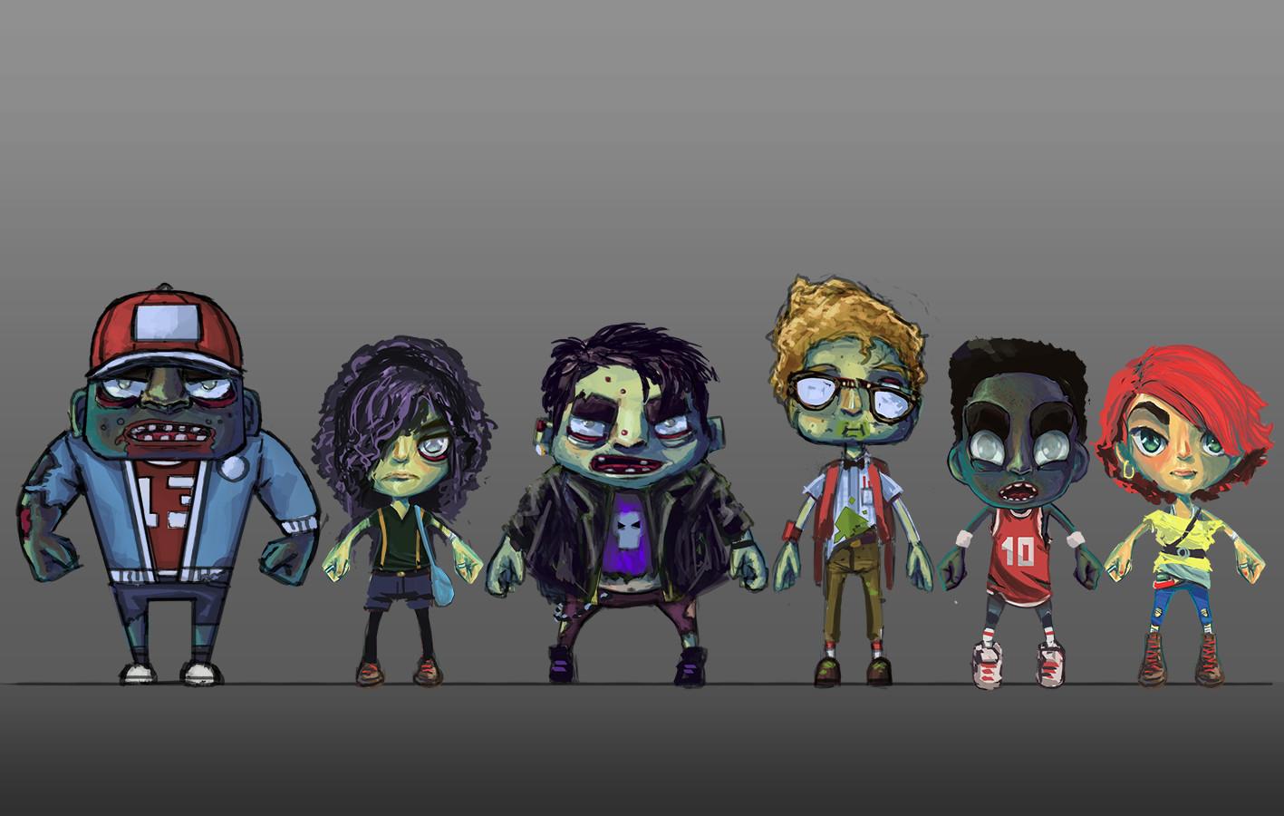 Rob smyth 80s zombie concept line up