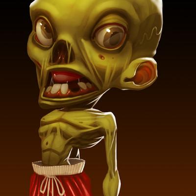 Mikael morin hamelin drawloween 08 zombie