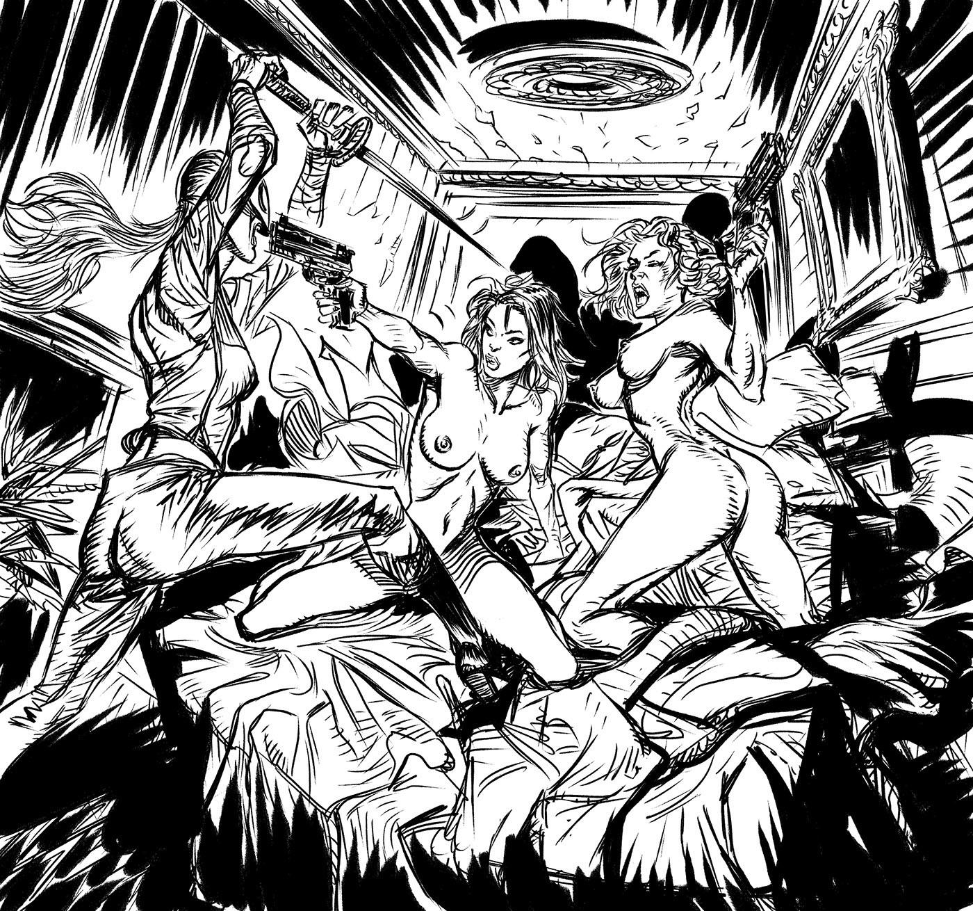 Daniele afferni natasha romanoff secret lovers the hydra assassin by danieleafferni ink