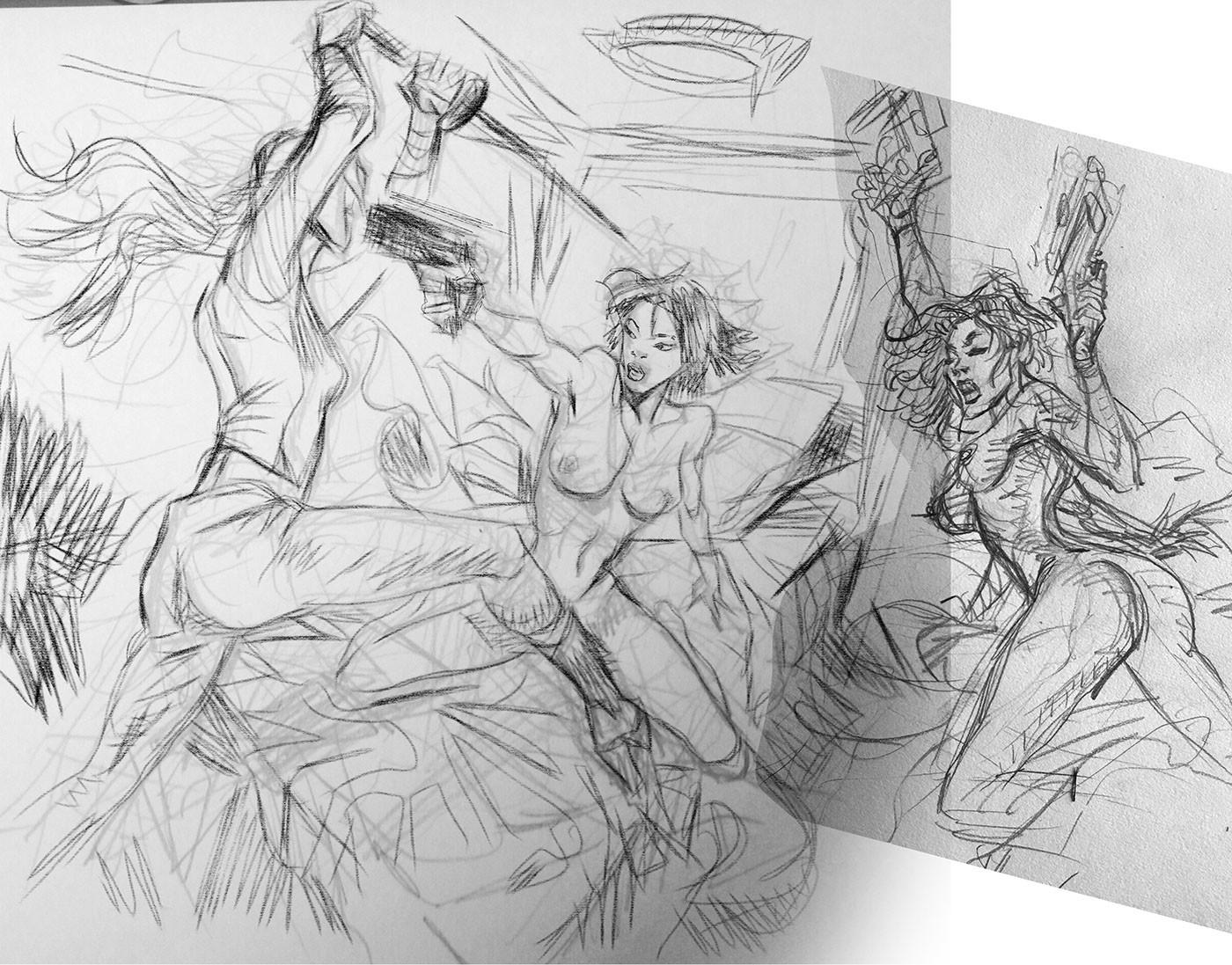 Daniele afferni natasha romanoff secret lovers the hydra assassin by danieleafferni pencil