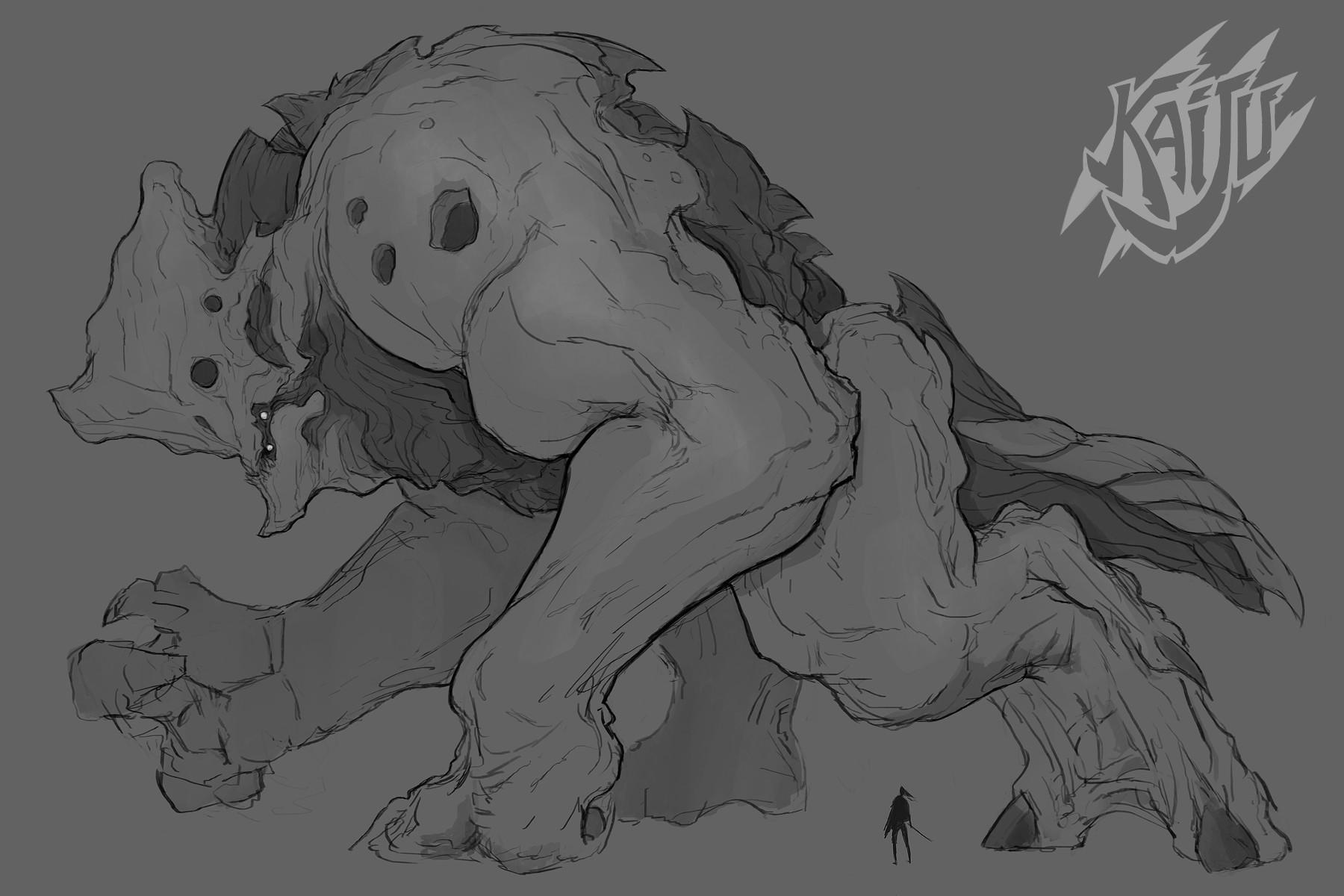 Alexandre chaudret kaijus creature predator13