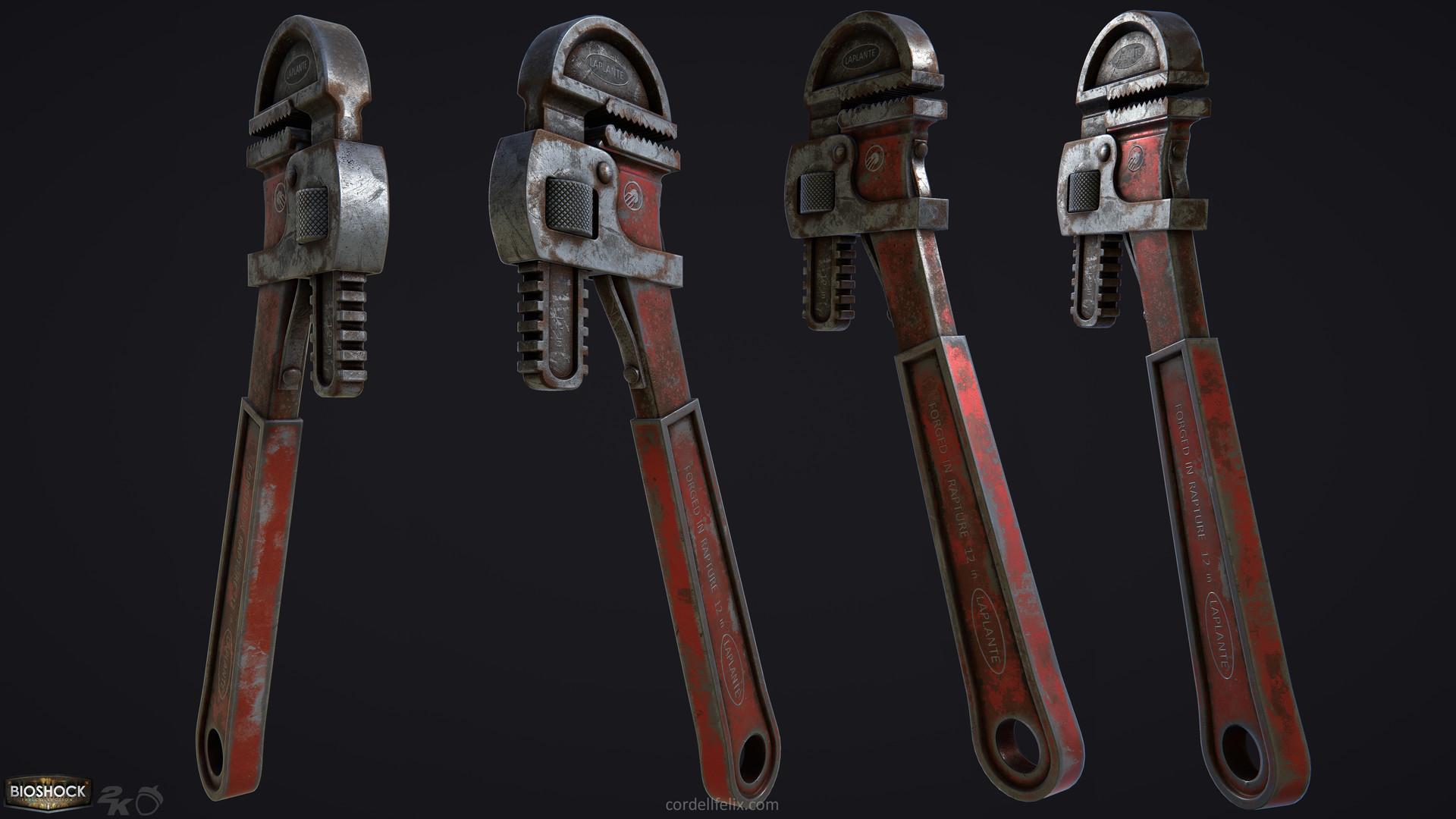 Cordell felix cordellfelix bioshock wrench both