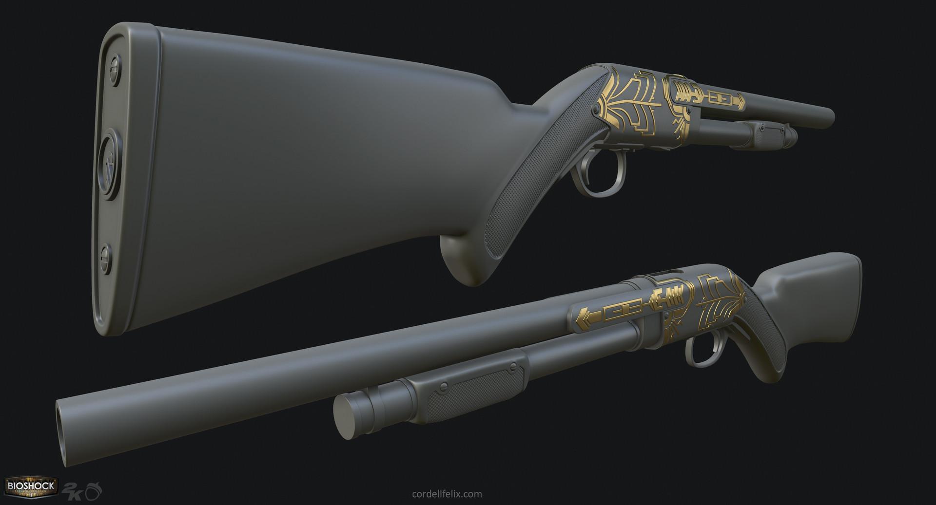 Cordell felix cordellfelix bioshock shotgun hp 05