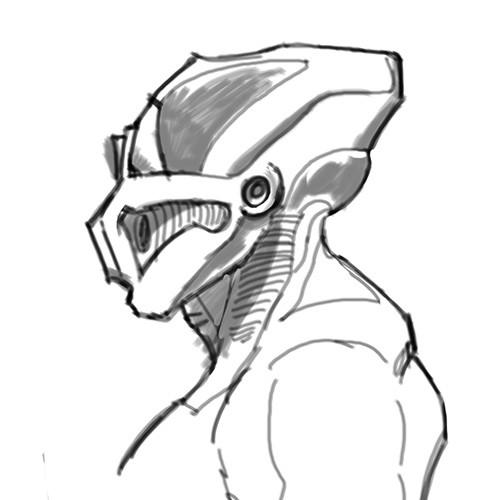 Eric keller robot side sketch