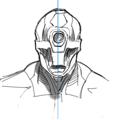 Eric keller robot front sketch