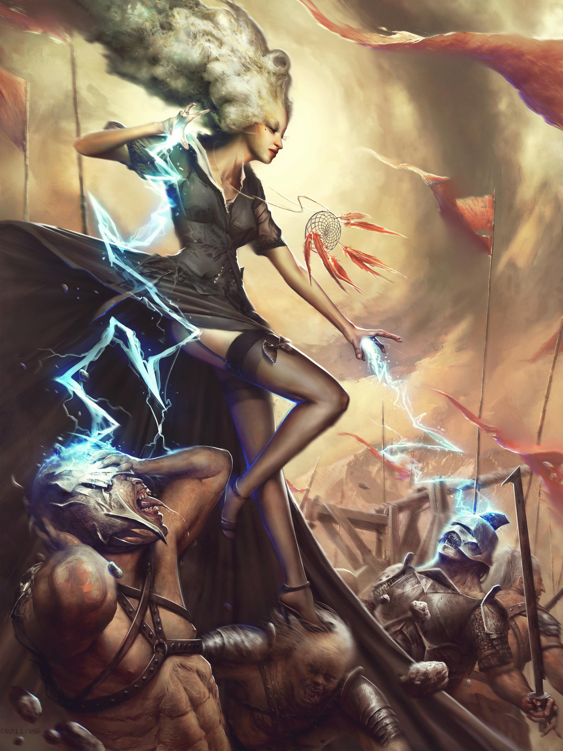 Quentin castel thunder witch artstation