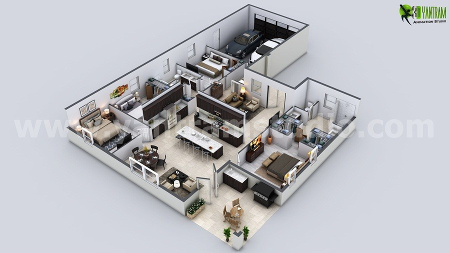 Artstation Beautiful Modern House Floor Plan Usa Yantram