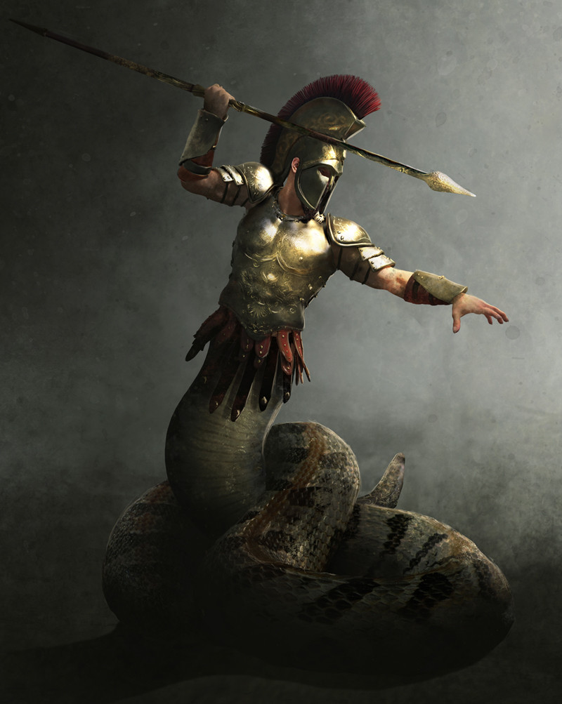 Mythic Battles Pantheon: Cecrops and Campe