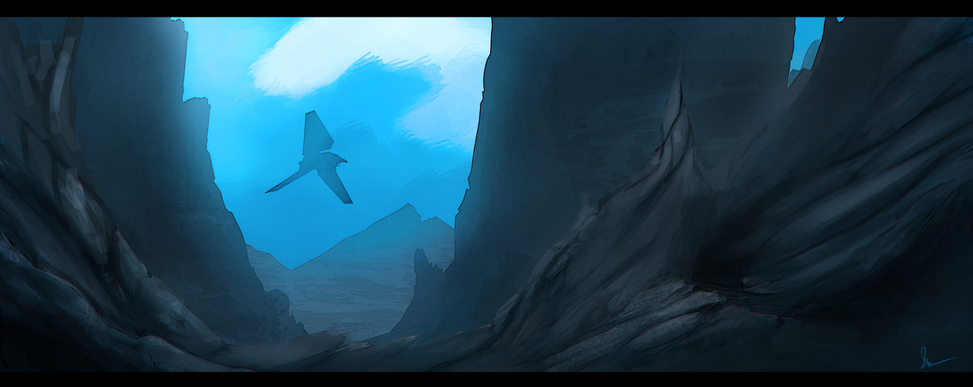 Shwetank shukla painting blue env