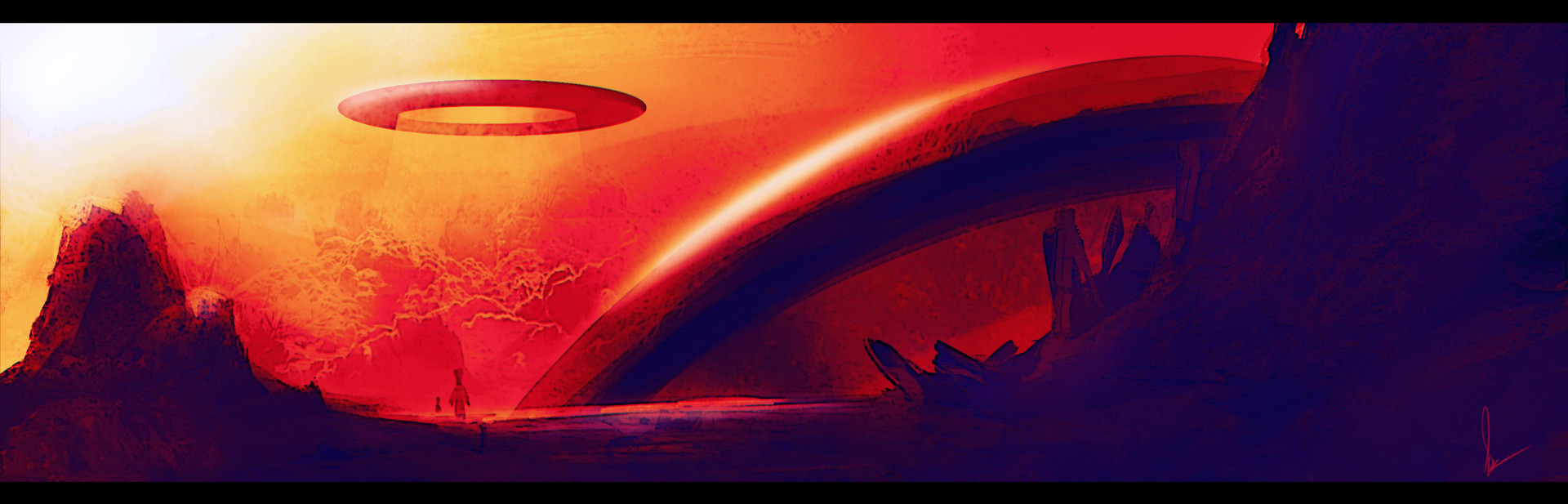 Shwetank shukla painting class alien world one