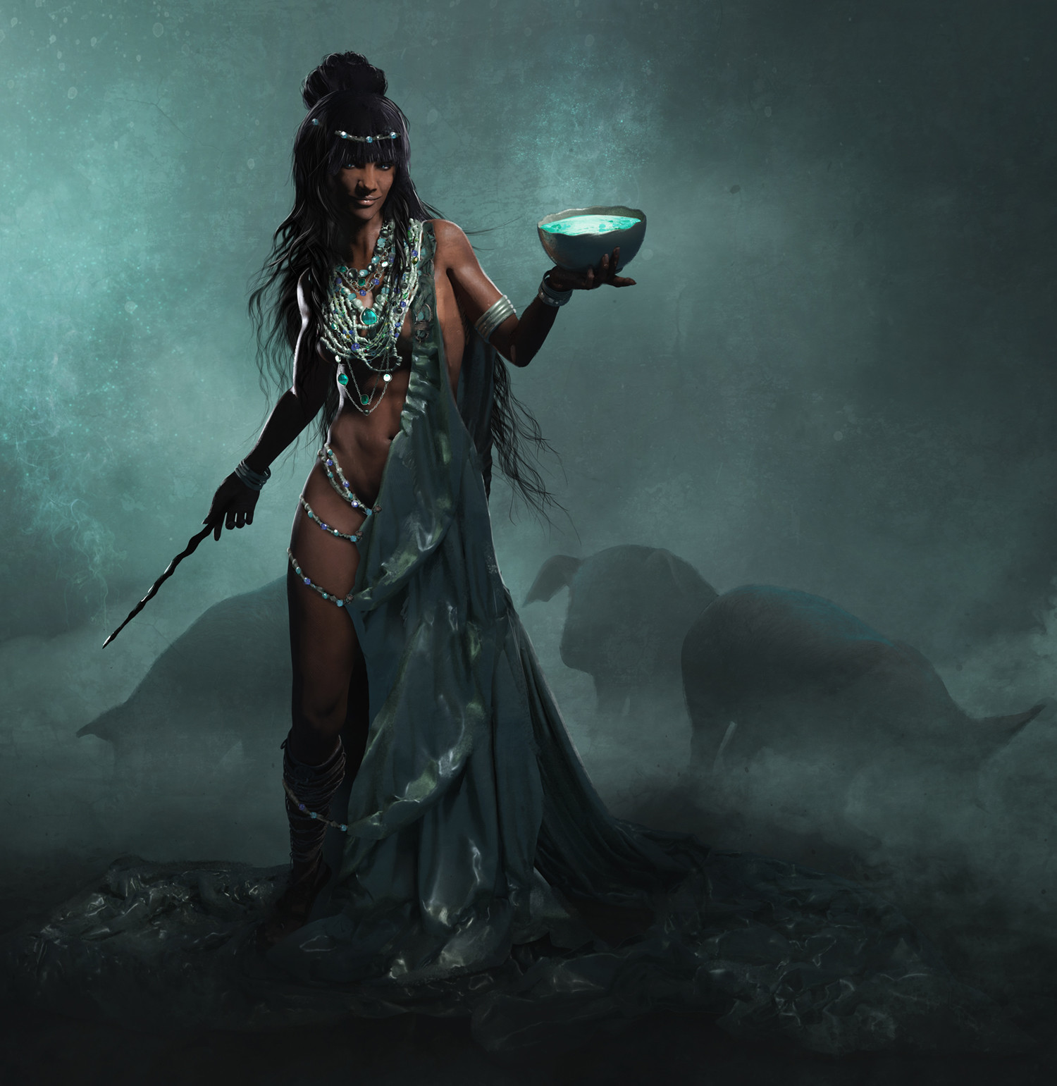 Mythic Battles Pantheon: Circe and her wolves