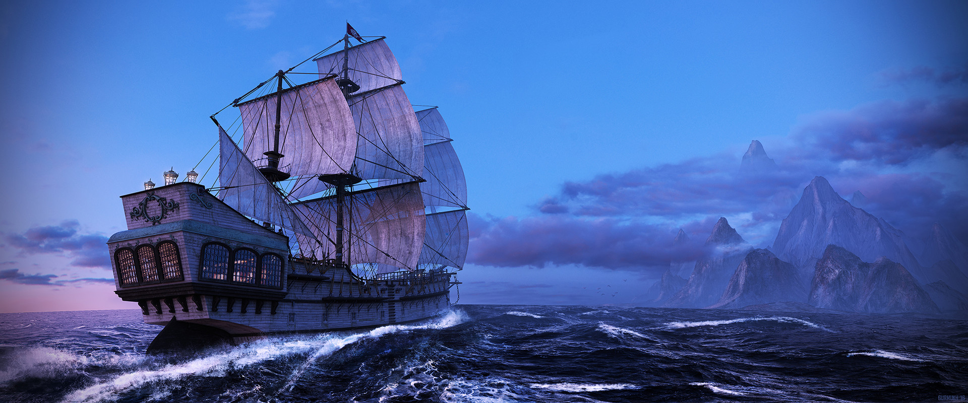Gurmukh bhasin gurmukh pirate ship mountain final 2k