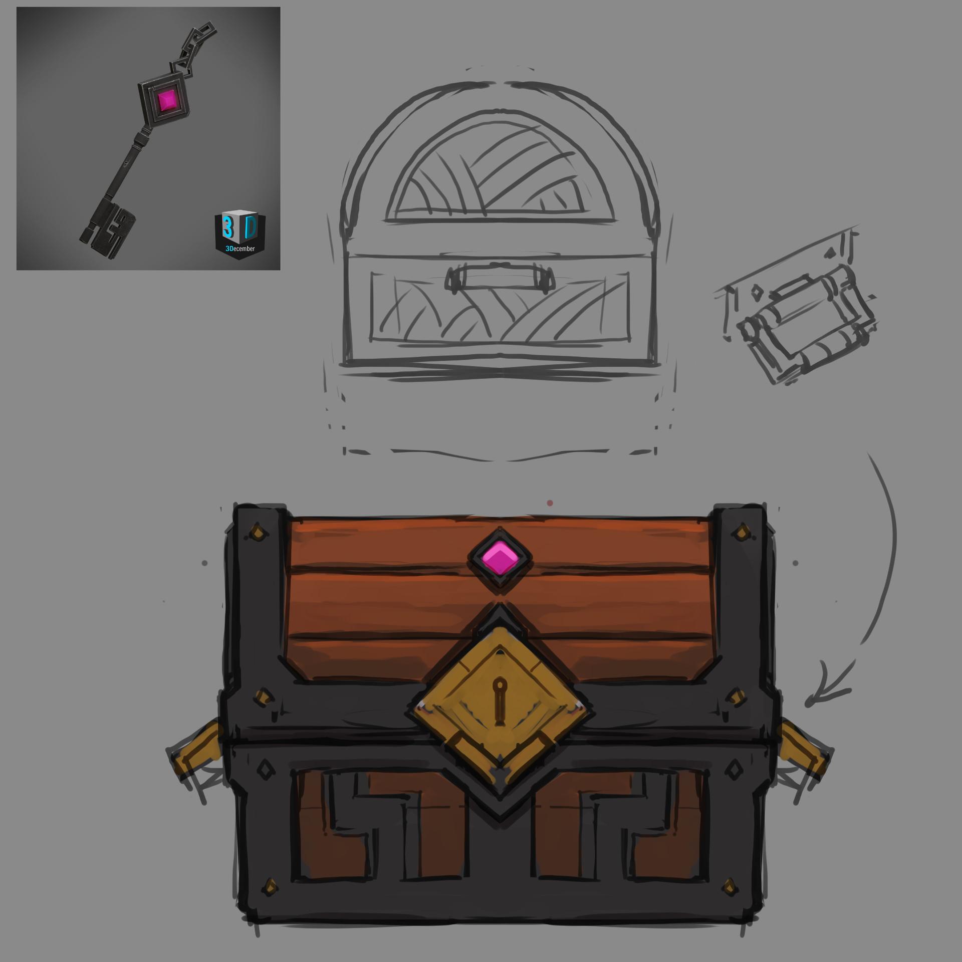 Tim kaminski treasure chest concept art