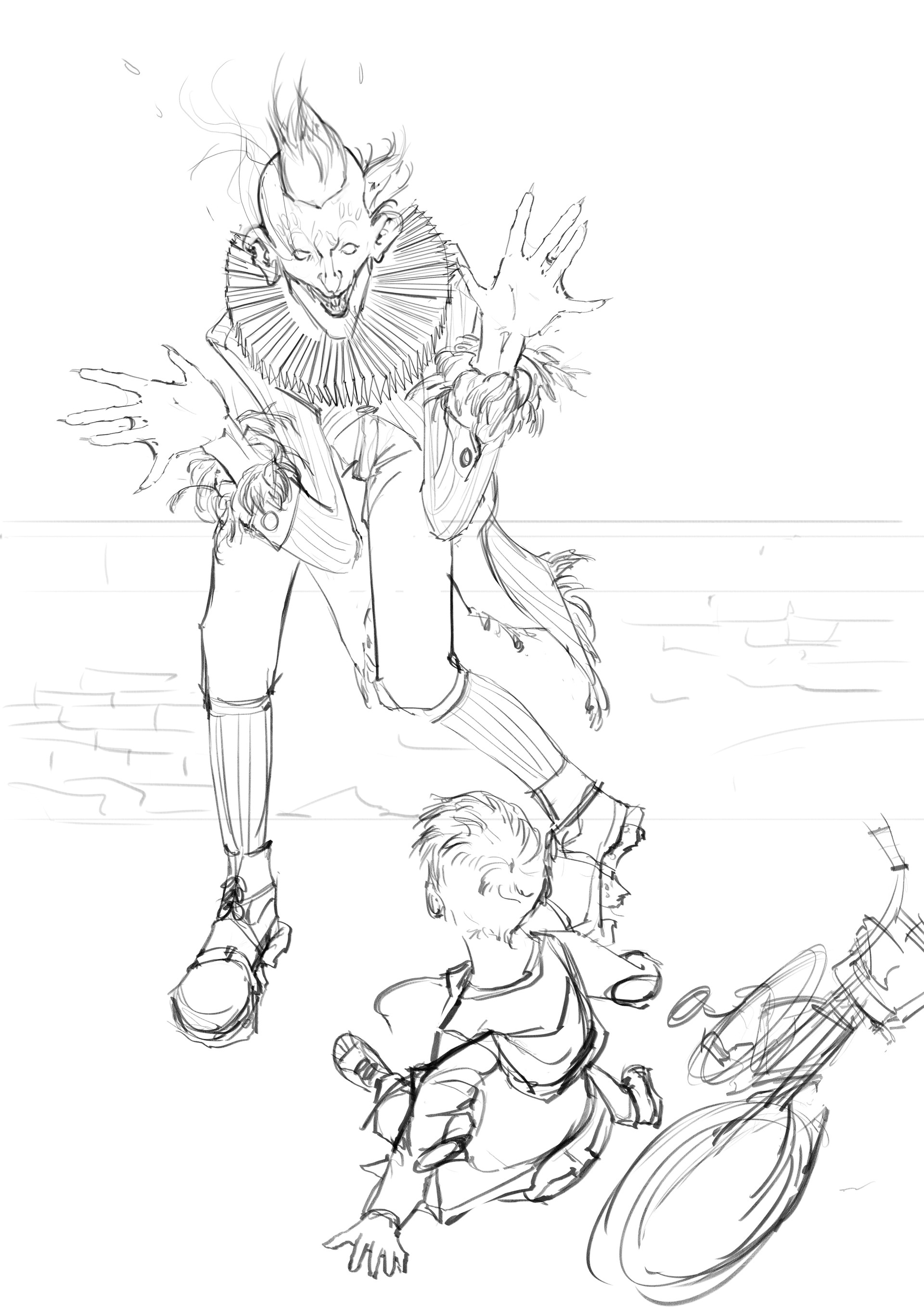 Marina ortega peekaboo clown illustration mo 01