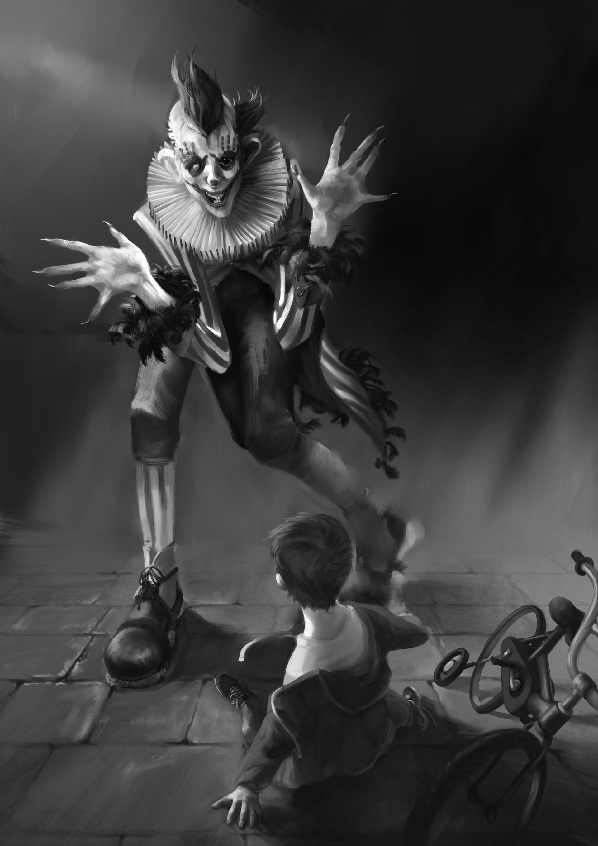 Marina ortega peekaboo clown illustration mo 04