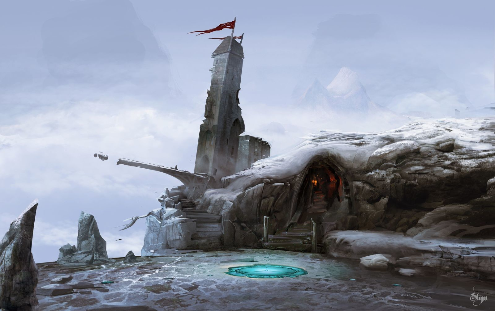 Traveler - Concept art for VR game -