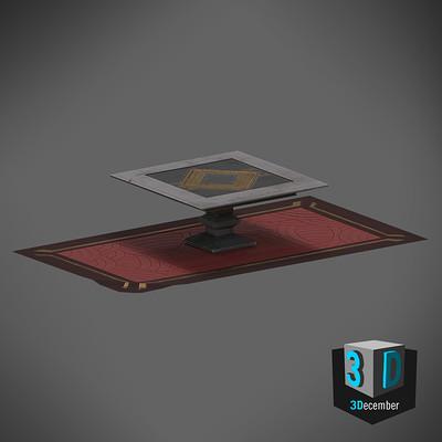 Tim kaminski table and rug