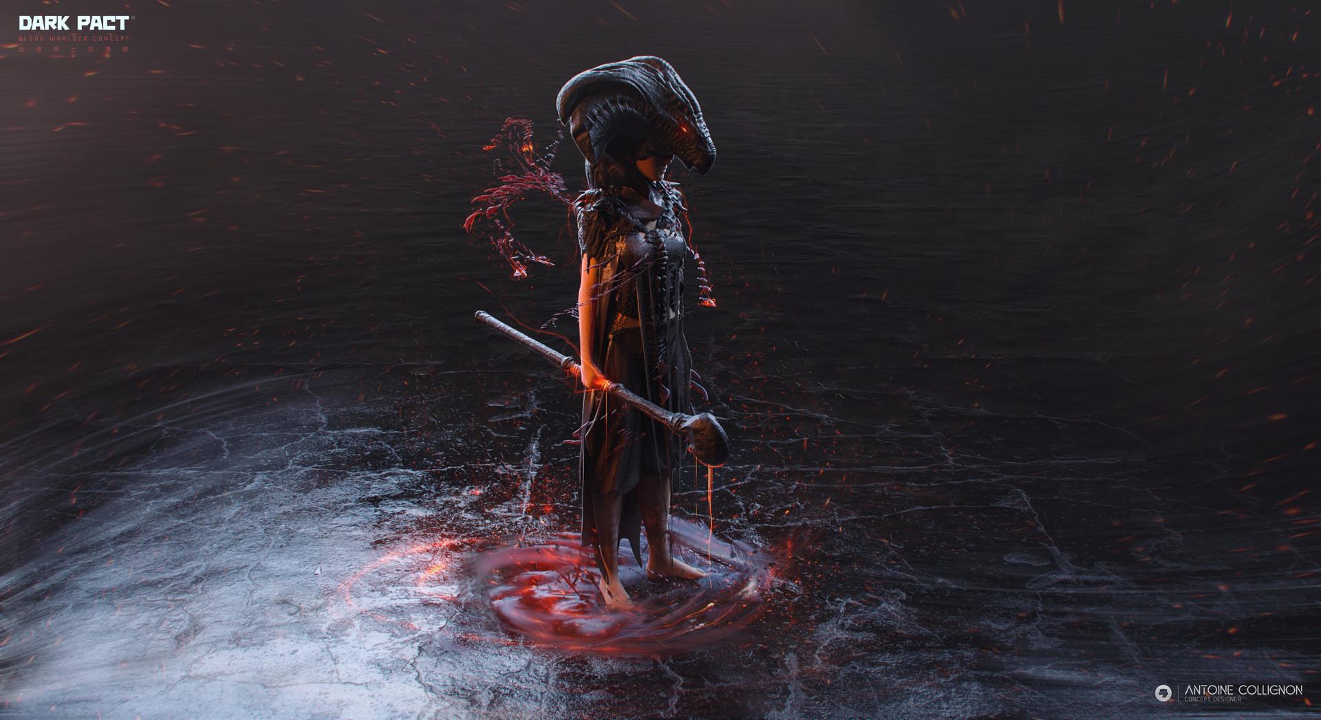 Antoine collignon dark pact characterdesign mmo bloodwarlock by antoine collignon 3