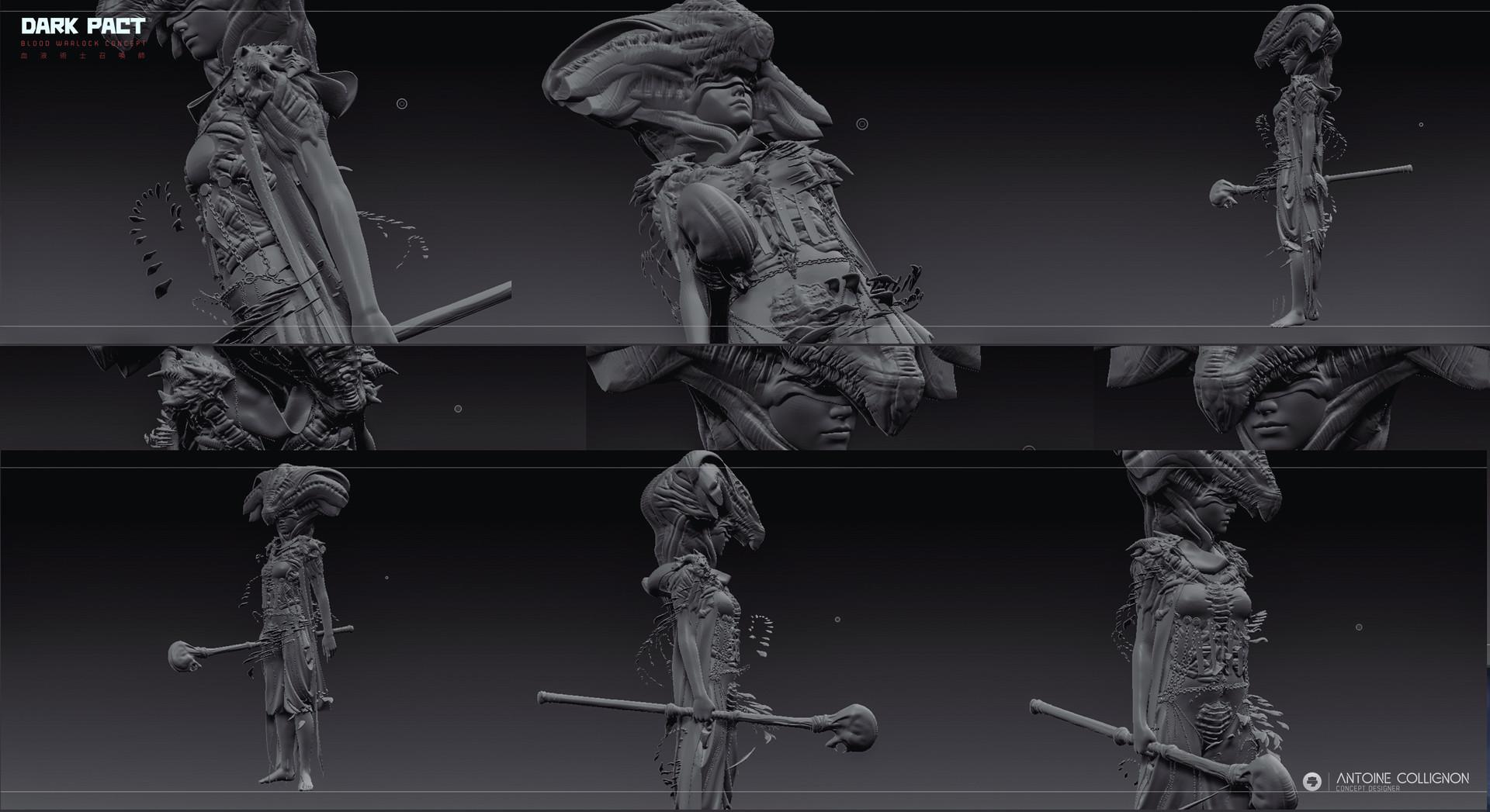 Antoine collignon dark pact characterdesign mmo bloodwarlock by antoine collignon 8 1