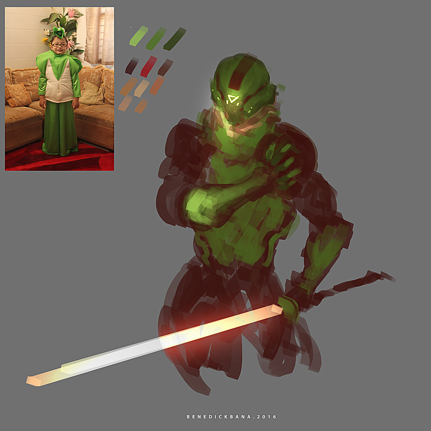 Benedick bana reference color lores