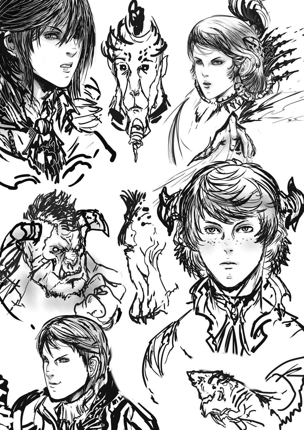 Julian tan character doodles by phantasmalblue da4xbj2