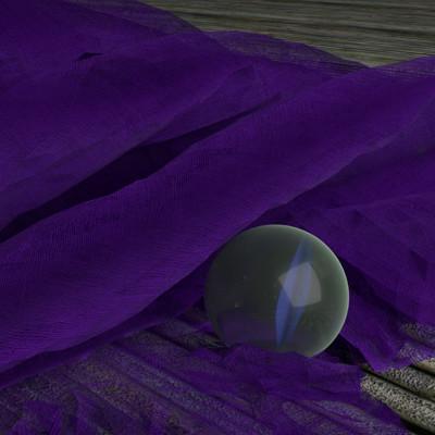 Kasia michalak glass ball on fabric