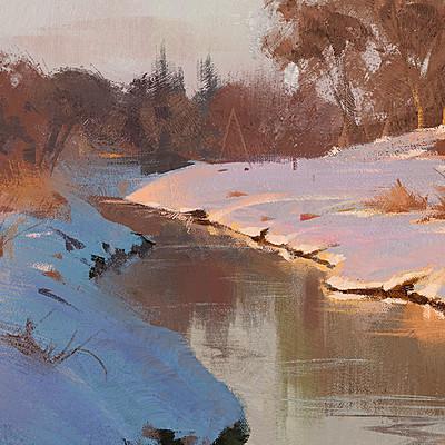 Grzegorz rutkowski winter landscape study 1500